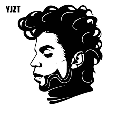 Yjzt 14cm 16 4cm Cool Singer Prince Side Face Producers Actors Vinly Decal Dazzling Car Sticker Black Silver C27 0539 Car Stickers Aliexpress