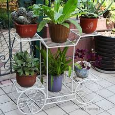 tiered scroll decor metal garden patio