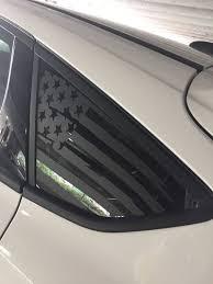 Ford Focus Tattered Flag Rear Window Decal Vinyl Etsy
