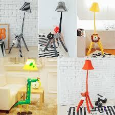 Bell 1 Light Floor Light With Animal Shape Base Fabric Floor Lamp For Kindergarten Nursing Room Nursing Room Fabric Floor Lamp Kids Floor Lamp