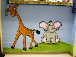 Bawden Fine Murals Animal Mural For A Baby Room At A Daycare