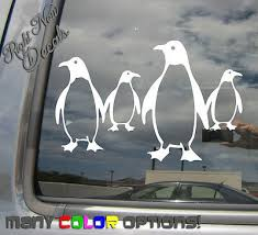 Penguin Family Of Four 4 Laptop Car Window Bumper Vinyl Decal Sticker 01280 5 96 Picclick