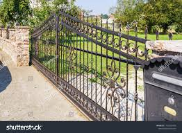 Wrought Iron Fence Gate Stock Photo Edit Now 1162559089
