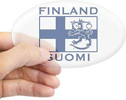 Amazon Com Cafepress Finland Suomi Flag Oval Sticker Oval Bumper Sticker Euro Oval Car Decal Home Kitchen