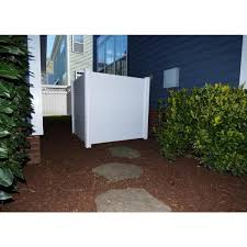 Zippity Outdoor Products 4 Ft X 4 Ft Premium White Vinyl Privacy Fence Panel Screen Enclosure Zp19014 The Home Depot