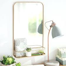shelf mirror wooden with coat hooks