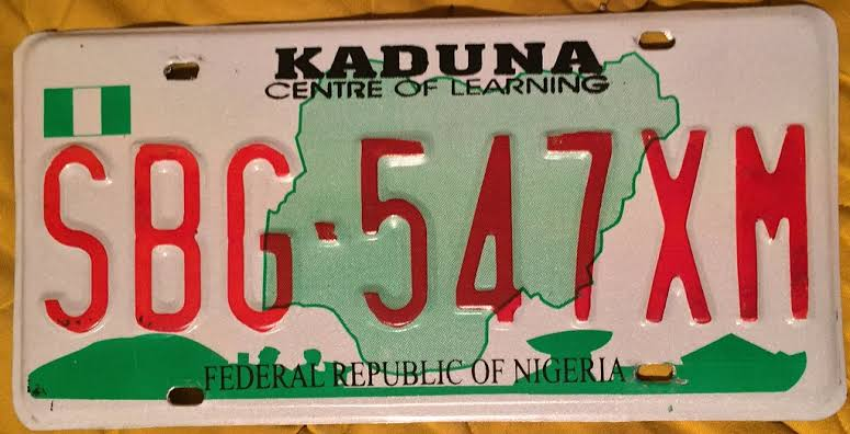 Image result for kaduna number plate