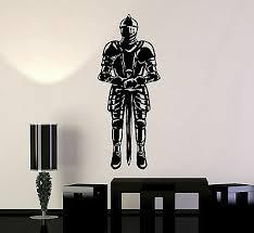 Vinyl Wall Decal Medieval Knight Boy Room Warrior Stickers Murals Ig4912 Ebay