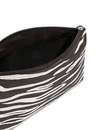 43 ganni zebra print makeup bag