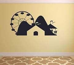 Amazon Com Carnival Amusement Park Roller Coaster Fair Carousel Circus Wall Sticker Art Decal For Girls Boys Kids Room Bedroom Nursery Kindergarten Fun Home Decor Sticker Wall Vinyl Decoration Size 18x20 Inch Home