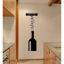 Ebern Designs Wine Bottle Corkscrew Vinyl Words Wall Decal Wayfair