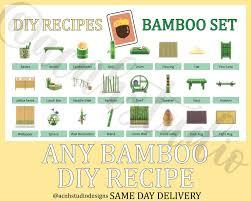 Any Bamboo Diy Recipe Same Day Delivery Animal Crossing Etsy In 2020 Bamboo Diy Animal Crossing Diy Food Recipes