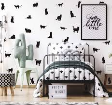 Amazon Com Black Cats Wall Decal Minimalist Animal Silhouette Wall Sticker For Kids Nursery Decoration Pet Lover Home Wall Art 32pcs Arts Crafts Sewing