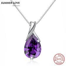 purple crystal amethyst pendant