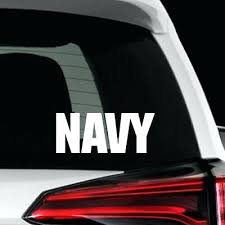 Navy Car Stickers Signs Custom Vinyl Decal Windows Wonder Us Veteran St Sutanrajaamurang
