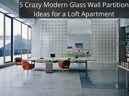 modern glass wall partition ideas for