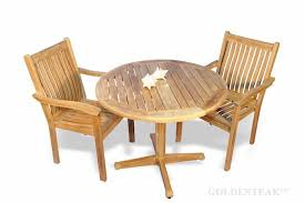 teak patio dining set 36 round table