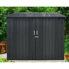 d metal horizontal bike shed