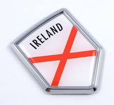 Northern Ireland Crossed Red Lines Flag Car Auto Emblem 3d Decal Bumper Sticker Ebay