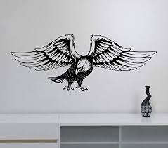 Amazon Com Bald Eagle Wall Vinyl Decal Removable Vinyl Sticker Wildlife Bird Of Prey Art Best Decorations For Home Living Kids Room Bedroom Dorm Animal Decor Made In Usa Fast Delivery Home