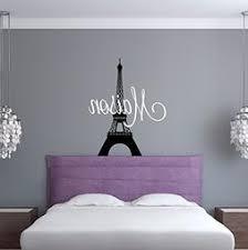 Custom Name Paris Wall Decal Girls Personalized