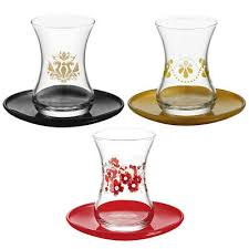 lav ikram 12pcs tea glasses luxury