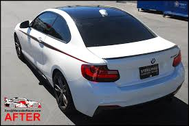 Bmw F22 M235i Coupe Gloss Black Vinyl Roof M Performance Side Accents Car Wrap Wannaberacer Wraps