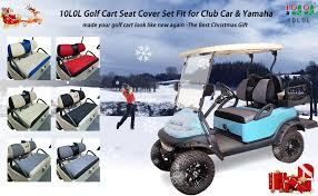 10l0l golf cart seat cover set fit for