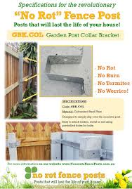 Brackets For Concrete Fence Posts No Rot Fence Posts