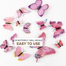 Shop 36pcs 3d Butterfly Wall Stickers Decal Stickers For Room Decor Pink Overstock 28961522