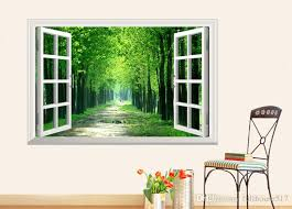3d Stereo Scenery Fake Windows Stickers Window View Wall Decal Sunshine Wall Stickers Forest Path Wall Art Living Room Bedroom Hallway Wall Murals Stickers Wall Peels From Fullhouse517 3 82 Dhgate Com
