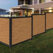Freedom Artisan 6 Ft H X 6 Ft W Black Aluminum Flat Top Privacy Lowes Com Privacy Fence Panels Outdoor Living Crafts Yard Accents