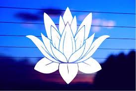 Lotus Flower 1 Car Decal Sticker