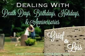 grief loss dealing death anniversaries birthdays