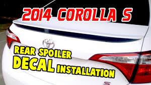 Shine Graffix Toyota Corolla Rear Spoiler Decal Facebook