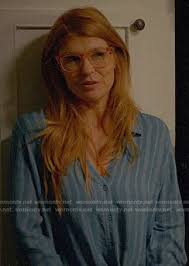 WornOnTV: Abby's blue striped tie-front shirt on 9-1-1 | Connie Britton |  Clothes and Wardrobe from TV