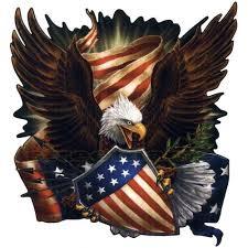 American Fighting Freedom Eagle Decal Sticker Car Truck Bendera Amerika Bendera Gambar