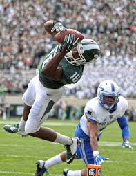 Aaron Burbridge (16) catches a touchdown pass against the Air ...
