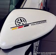 135 Volkswagen Car Mirror Window Body Decal Racing Graphics Sticker 2pcs