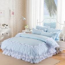 sophisticated elegant light blue ruffle