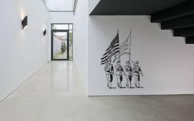 Vinyl Sticker Usa Soldier Flag Patriotic Salute Wall Decor Art Mural Decal Sa399 Ebay
