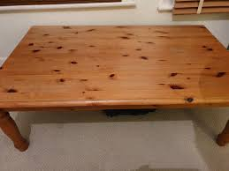 wooden coffee table free in fulham
