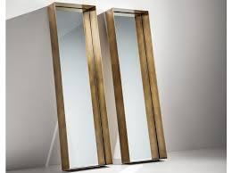 freestanding framed metal mirror frame