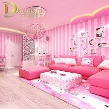 Pink Blue Stripes Wallpaper For Kids Room Baby Girls Boys Bedroom Decor Wallpapers Tv Backdrop Striped Wall Papers Roll Wallpapers Aliexpress