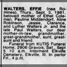 Effie Walters obit St Louis Post Dispatch St Louis MO 4 Sep 1981 Fri -  Newspapers.com