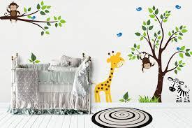 Jungle Wall Decals Safari Wall Decals Nursery Room Stickers Nurserydecals4you