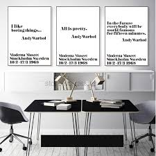 Andy Warhol Quotes Nordic Poster Posters Prints Wall Art Canvas Painting Cuadros Unframed With Free Shipping Worldwide Weposters Com