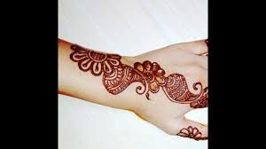 latest mehndi design back side hand