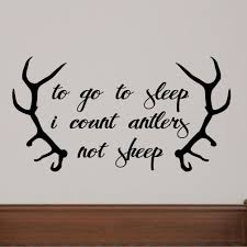 Sweetumswalldecals To Go To Sleep I Count Antlers Not Sheep Wall Decal Wayfair