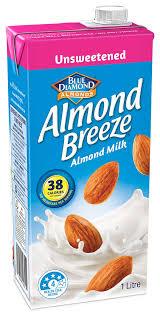 unsweetened almond milk almond breeze